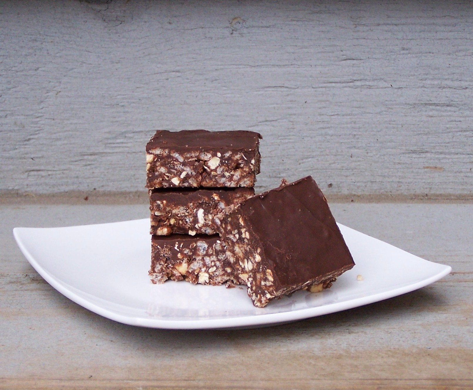 Chocolate Peanut Butter Rice Krispie Treats - half healthy, half totally not, 100% awesomeness :)