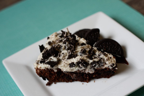 Cookies and Cream Brownies - the ICING is to die for!