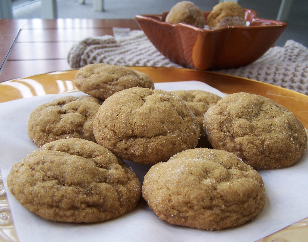 Chewy Pumpkin Gingersnaps