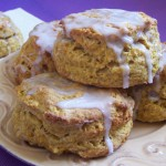 Pumpkin Spice Scones with Cinnamon Glaze