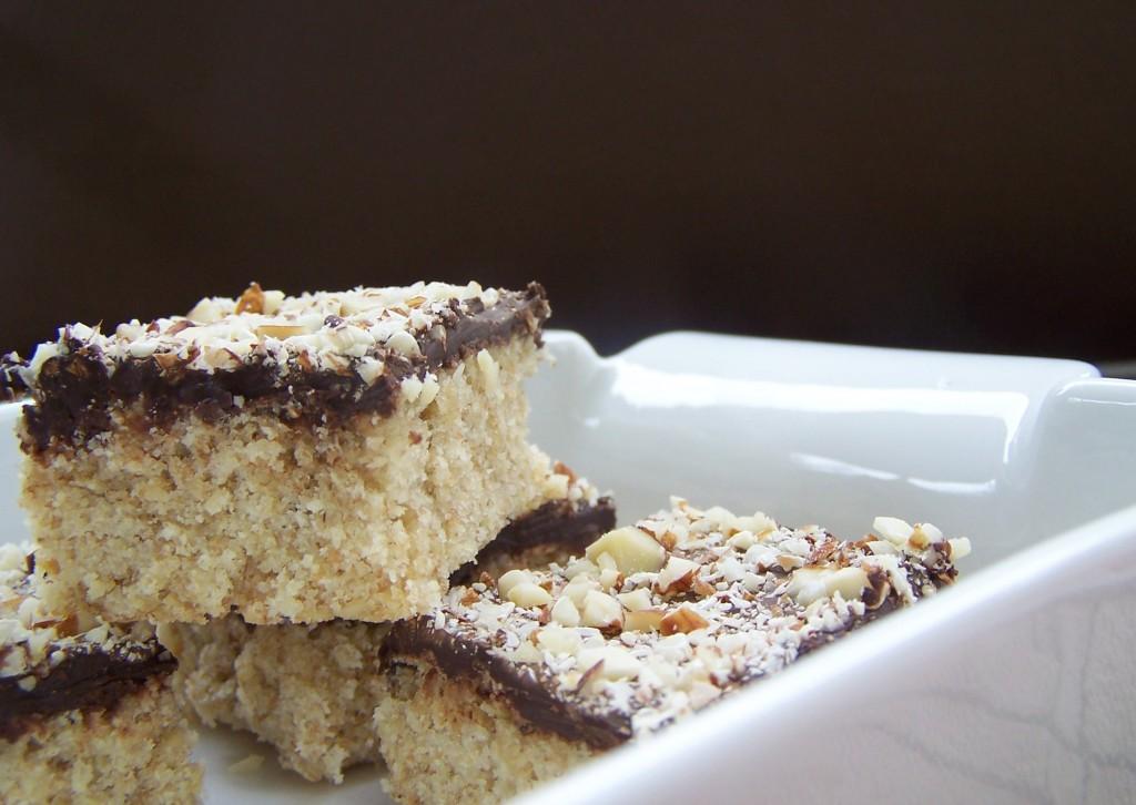 Chocolate Almond Cake Squares
