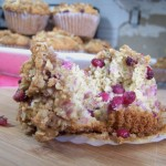 Pomegranate Oatmeal Muffins