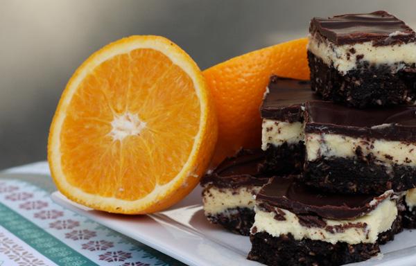 Chocolate Orange Nanaimo Bars