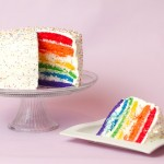 1 Year and a Rainbow Layer Cake!