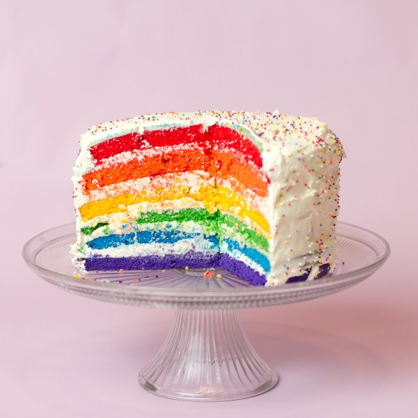 Year and a Rainbow Layer Cake!