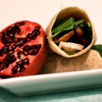 Chicken, Brie & Pomegranate Wraps