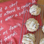 Cranberry White Chocolate Scones with Orange Icing