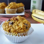 Whole Wheat Pumpkin Banana Muffins