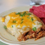 Barbecue Pulled Pork Enchiladas