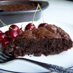 Roasted Cherry Chocolate Brownies (or Cake)