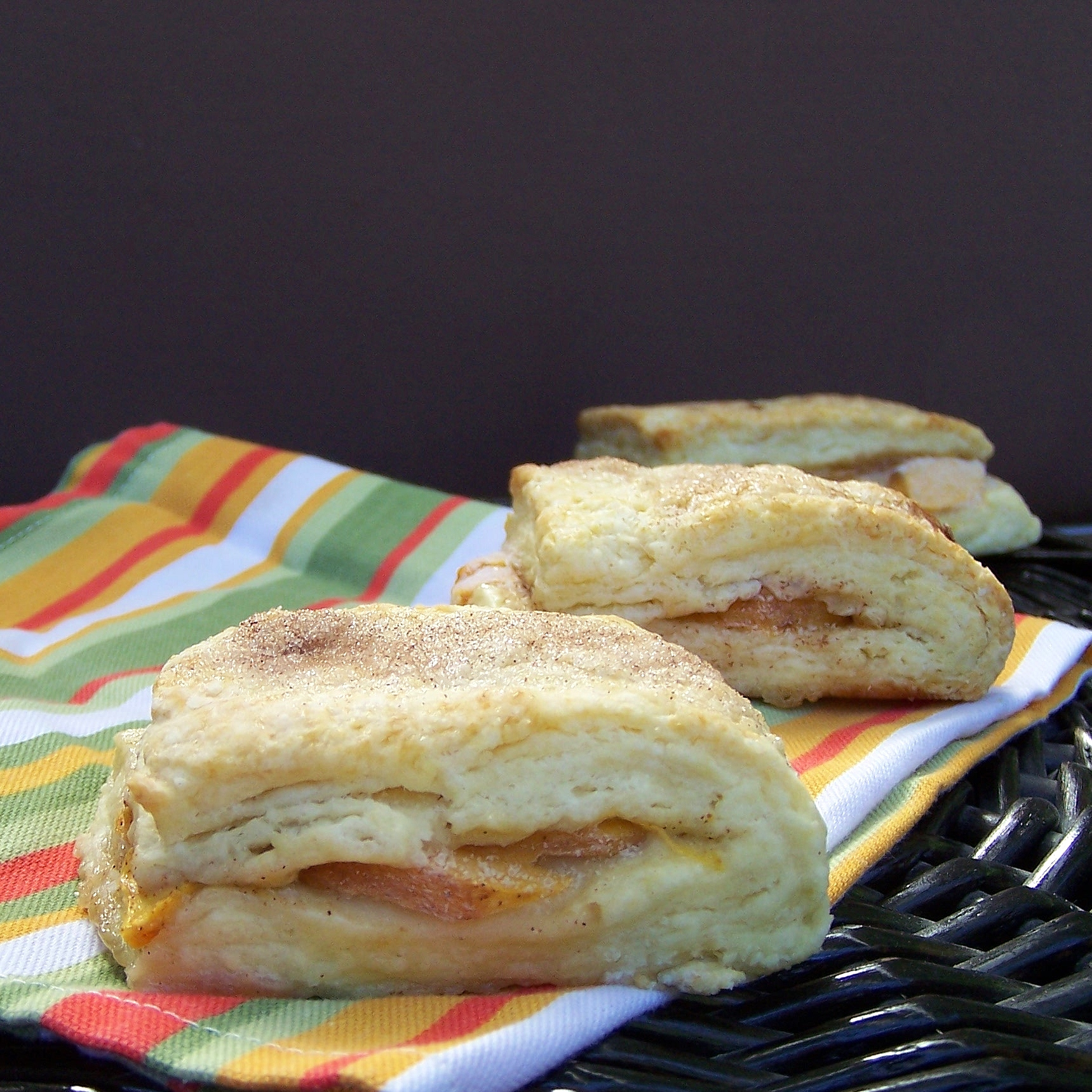 peach scones close