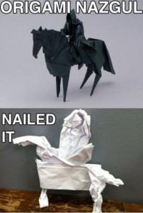 Nailed it, Origami Fail