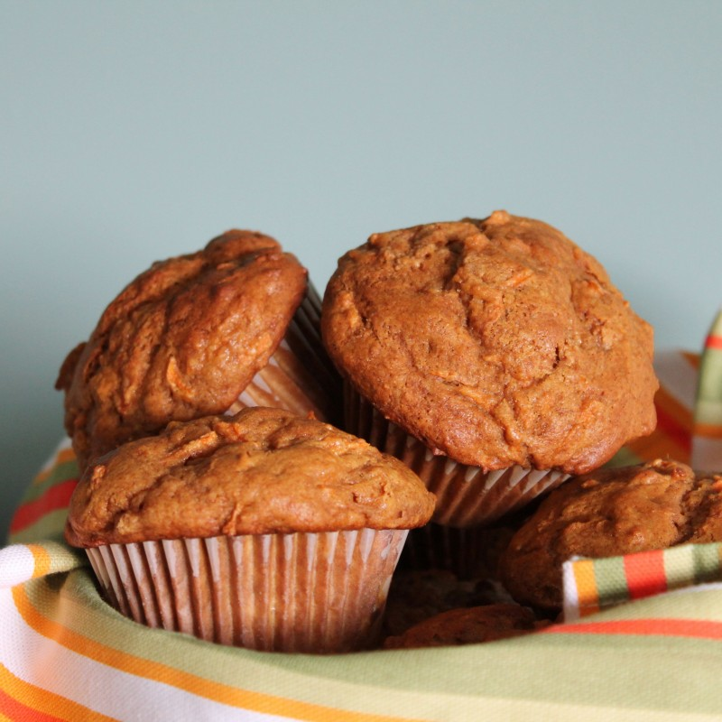 Carrot Gingerbread Muffins