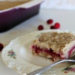 Leftover Cranberry Sauce Oat Bars