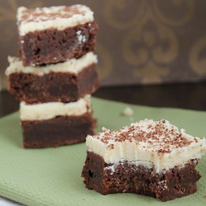 Fudgy Brownies with Cookie Dough Frosting