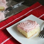 Heart-Shaped Cake with Strawberry Cream Cheese Frosting