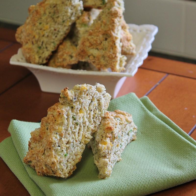 Savoury herb scones
