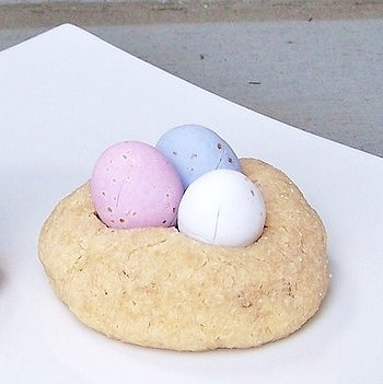 Peanut butter mini egg cookies
