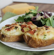 Bacon & Gouda Baked Potatoes