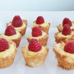 Lemon Coconut Tarts with Homemade Lemon Curd