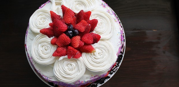 Saturday Sweets: Birthday Cake with the BEST Vanilla Frosting
