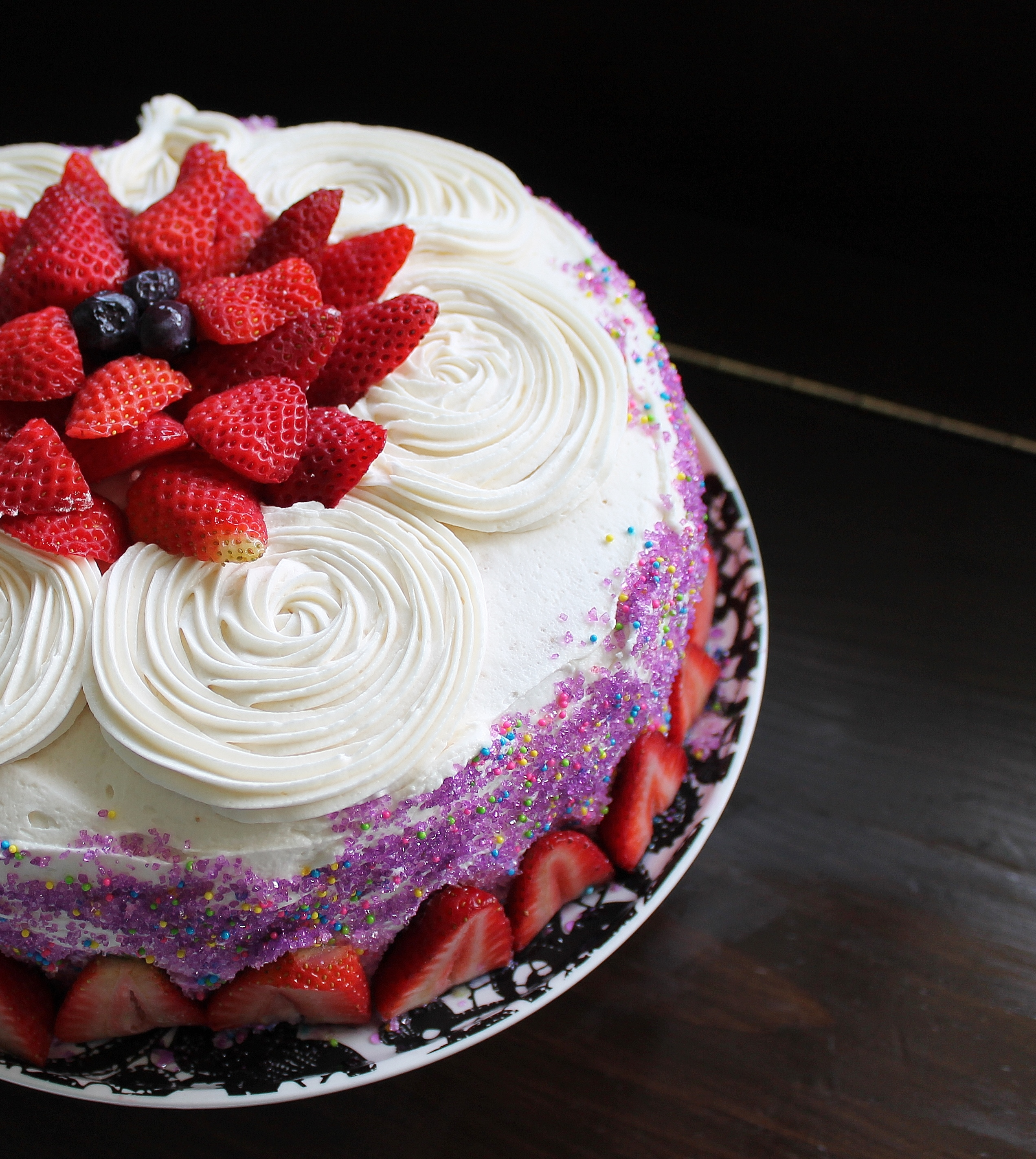 Birthday Cake Images Pic : Vanilla Birthday Cake with the BEST Vanilla Frosting