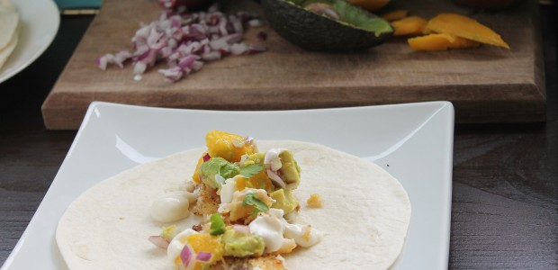 Fish Tacos with Avocado Mango Salsa