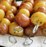 Barbecued new potatoes