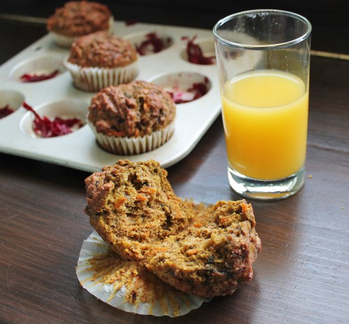 Carrot & Beet Muffins - 4 cups of veggies packed into 1 dozen kid-friendly muffins!