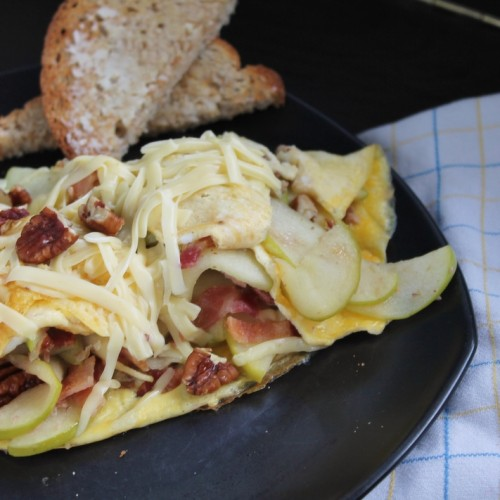 Apple Brie Omelettes