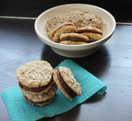 Fudge-Filled Oatmeal Sandwich Cookies