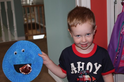 Super easy cookie monster craft
