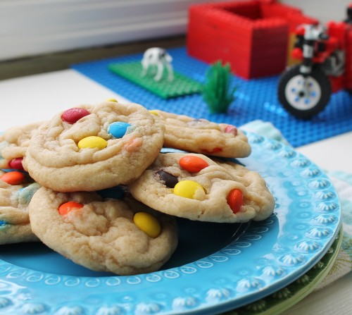 Thick & Chewy m+m Cookies