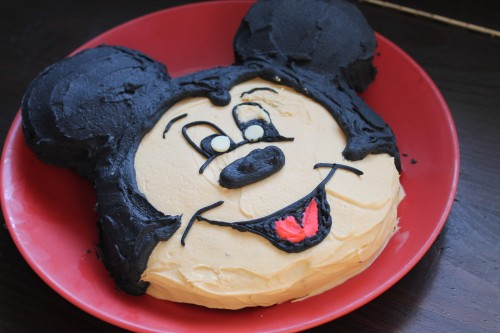 How To Make Mickey Mouse Cake Without Pan