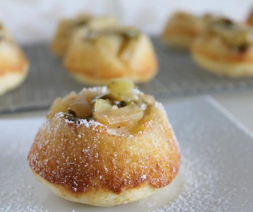 Apple Grape Upside Down Muffins