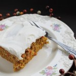 Saturday Sweets: Pumpkin Carrot Cake with Cream Cheese Icing