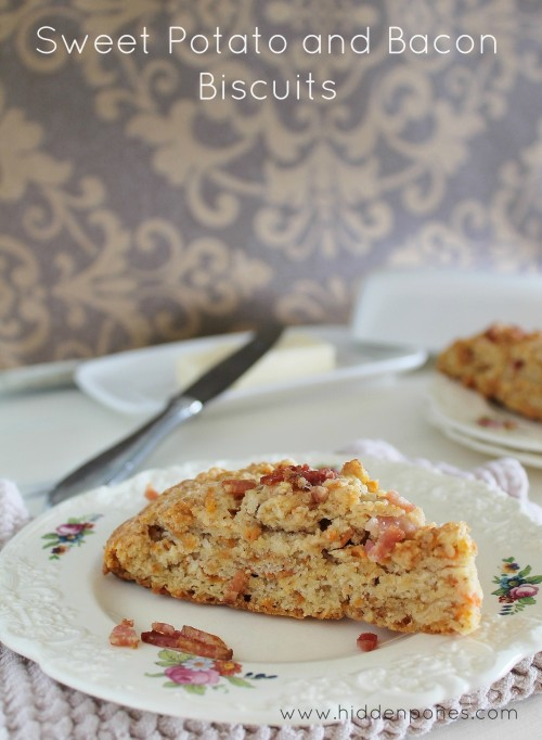 Sweet Potato and Bacon Biscuits/Scones | www.hiddenponies.com