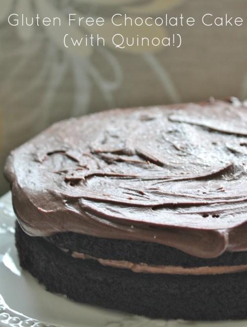 Gluten Free Chocolate Cake - no flour, just cooked quinoa, for a moist, fudgy cake no one will guess is gluten free!