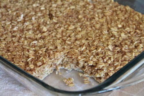 Baked Pumpkin Oatmeal Recipe | www.hiddenponies.com