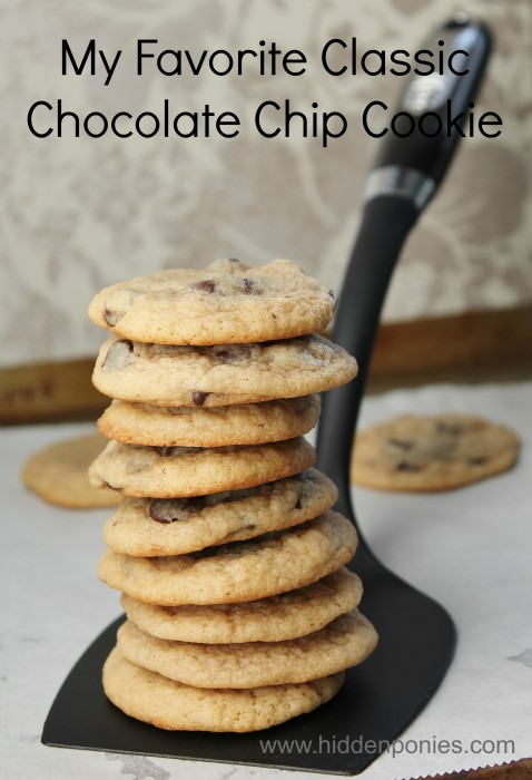 My Favourite Chocolate Chip Cookie Recipe | www.hiddenponies.com