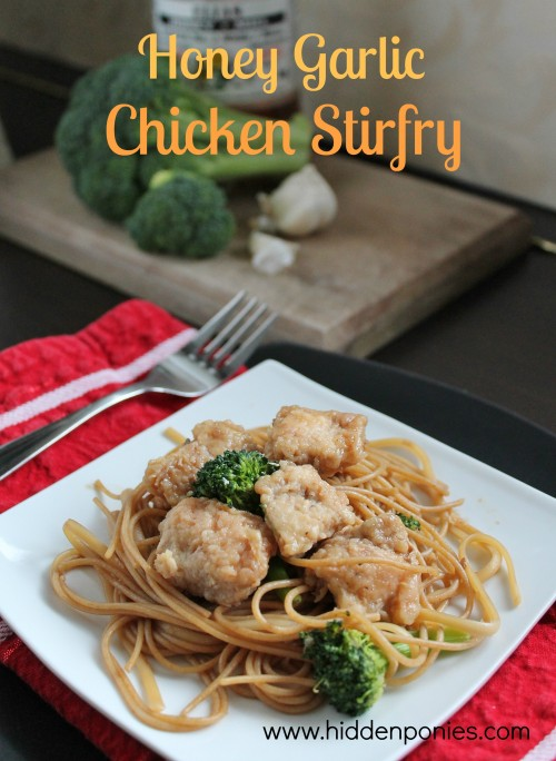 Honey Garlic Chicken Stir Fry | www.hiddenponies.com