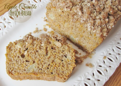 Apple Crumble Quick Bread (with options for zucchini, carrot, and pear breads)