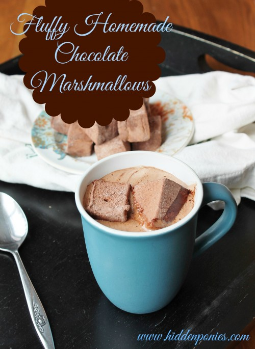 Homemade Chocolate Mint Marshmallows