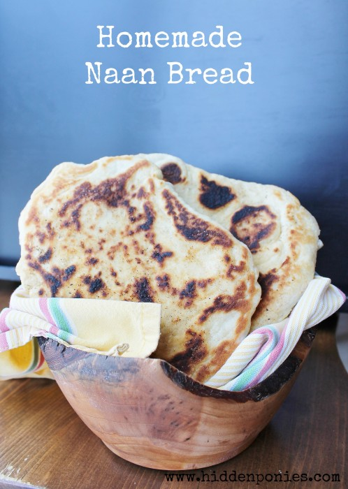 Homemade Naan Bread - so easy and so much better than the store makes it!