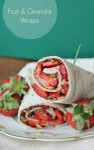 Strawberry Chocolate Granola Wraps