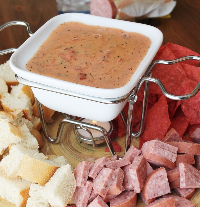Pizza Fondue - an out-of-this-world appetizer or lunch!