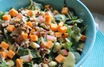 Apple cheddar walnut salad
