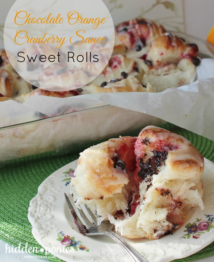 Cranberry Chocolate Sweet Rolls - a decadent, delicious way to use up leftover cranberry sauce!