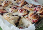 Chocolate Cranberry Sweet Rolls with Orange Glaze