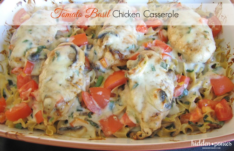 Tomato Basil Chicken Casserole